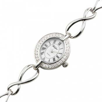 Ladies Rochester Cubic Zirconia Sterling Silver Bracelet Watch